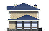 Проект кирпичного дома 39-82 фасад