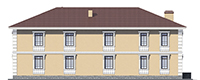 Проект кирпичного дома 39-84 фасад