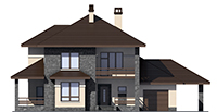 Проект кирпичного дома 39-87 фасад