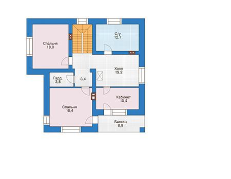 Проект кирпичного дома 39-87 план