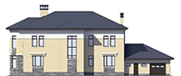 Проект кирпичного дома 39-91 фасад