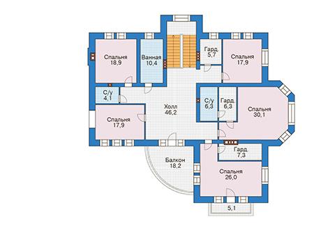 Проект кирпичного дома 39-91 план