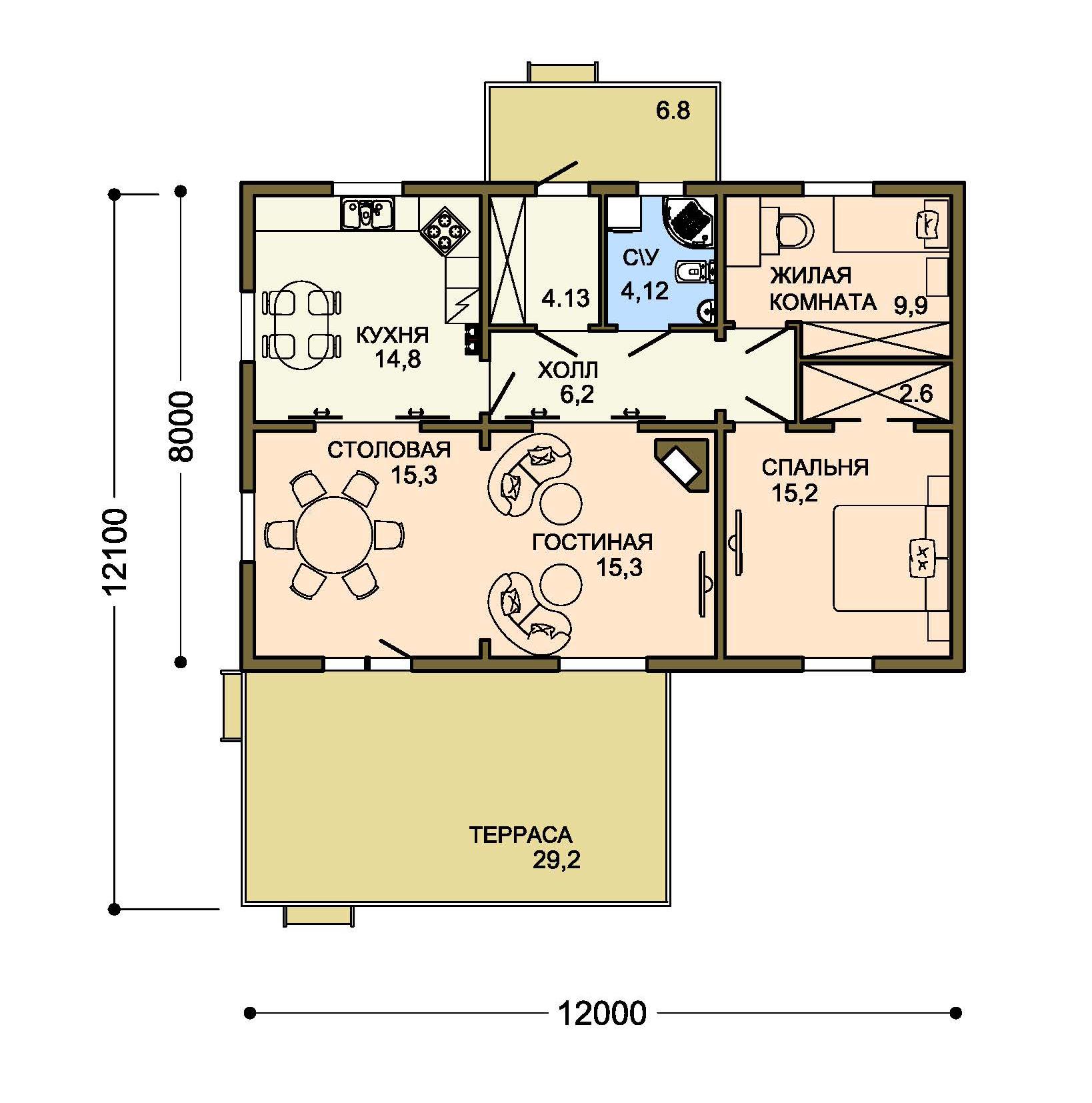 Проект дома 001-1 план