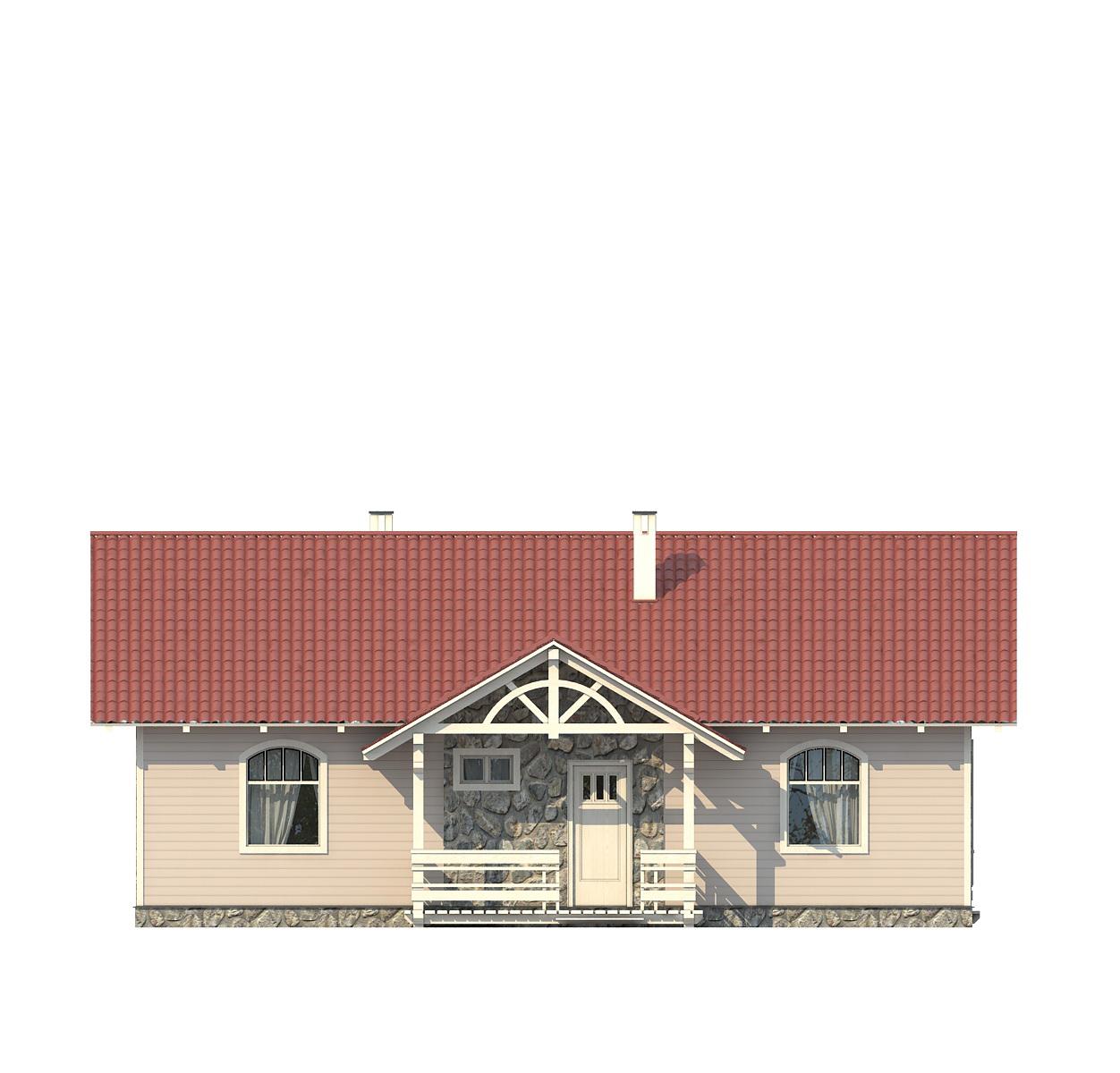 Проект дома 002-1 фасад