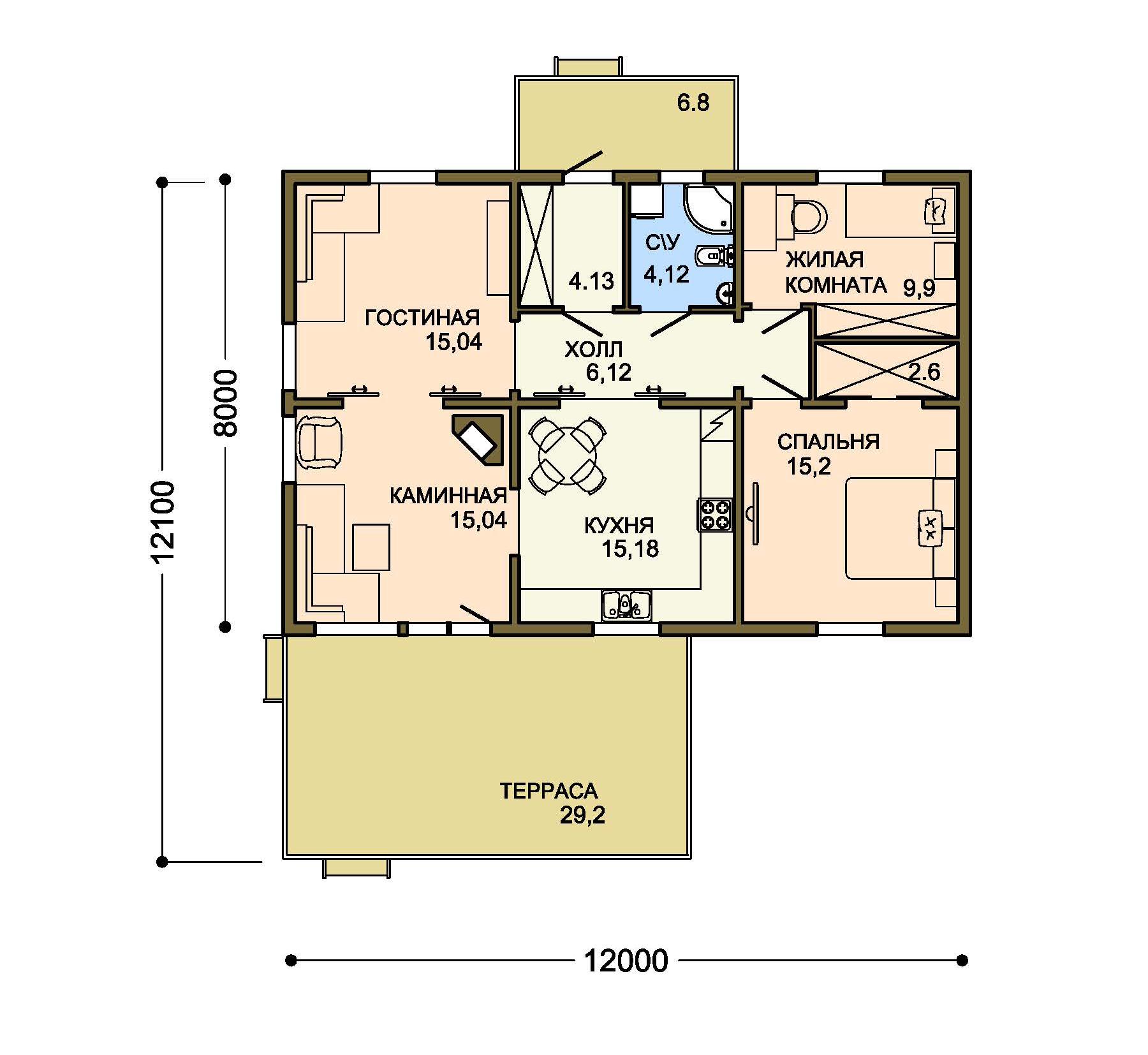 Проект дома 002-1 план