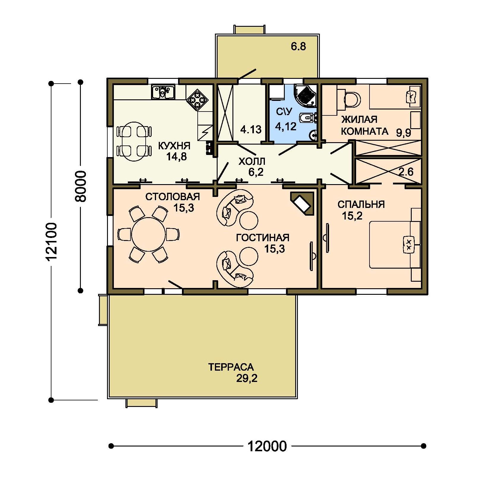Проект дома 003-1 план