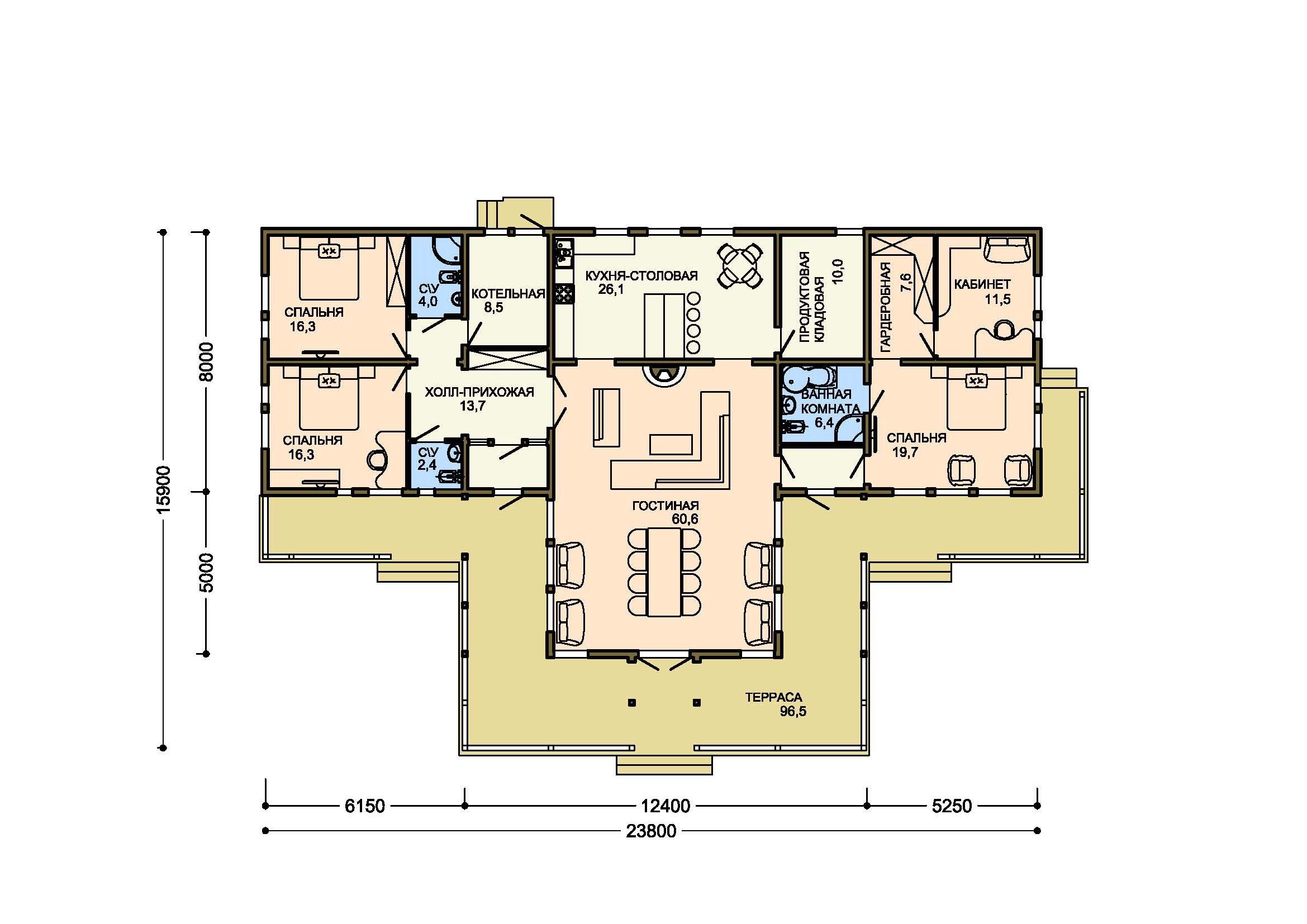 Проект дома 005-1 план