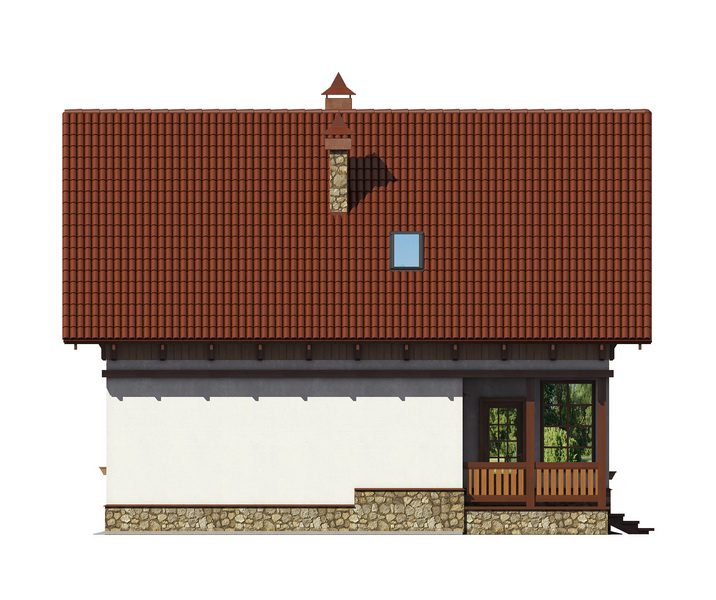 Проект дома 007-2 фасад