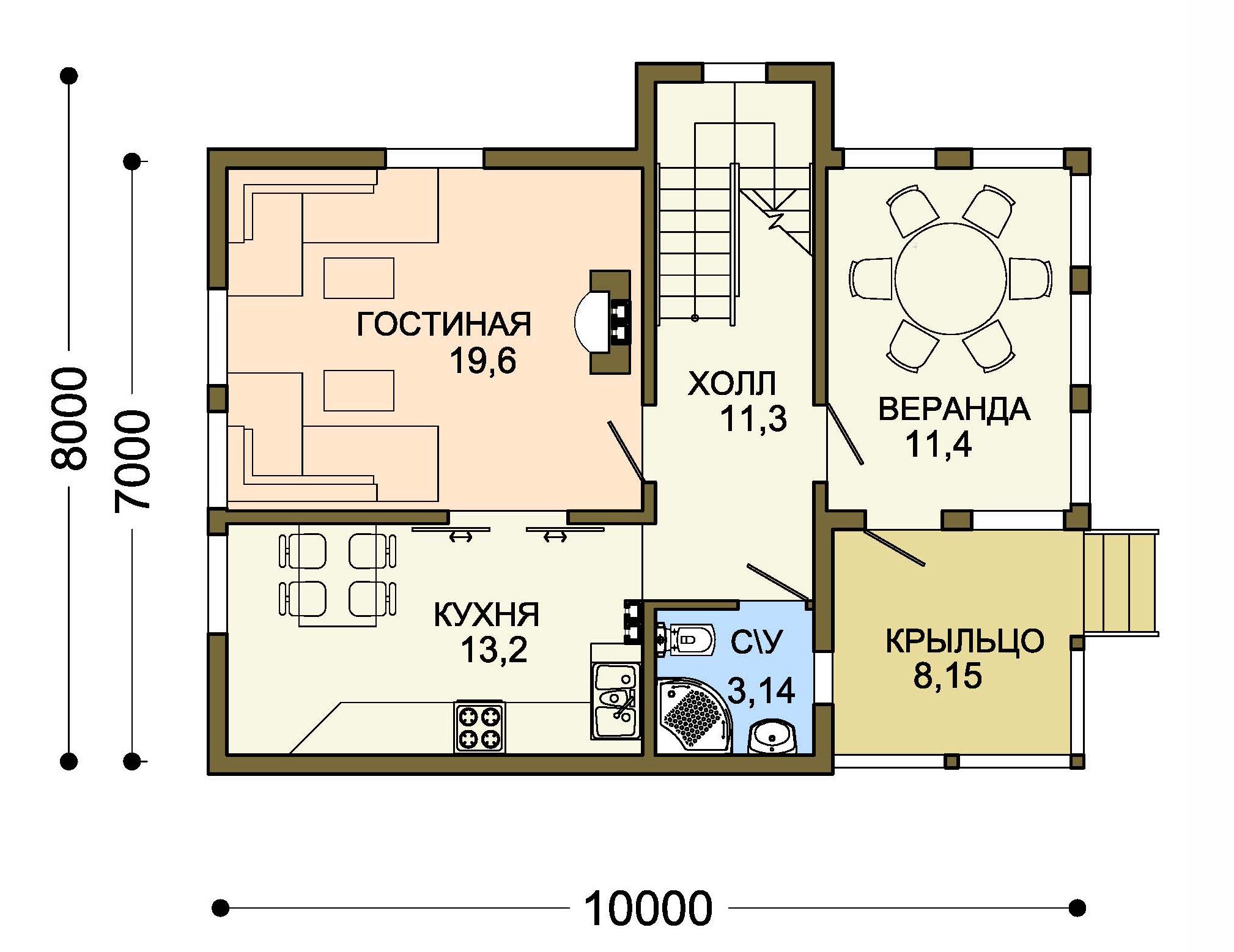 Проект дома 007-2 план