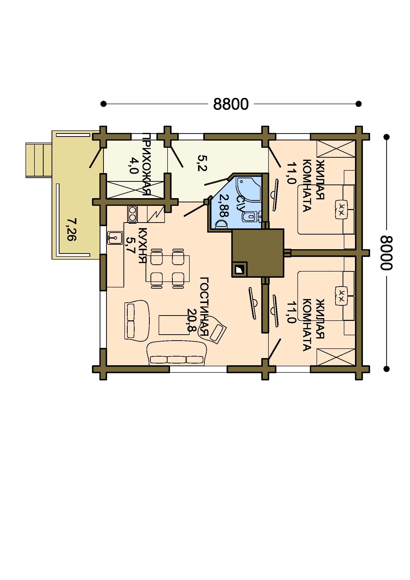 Проект дома 010 план