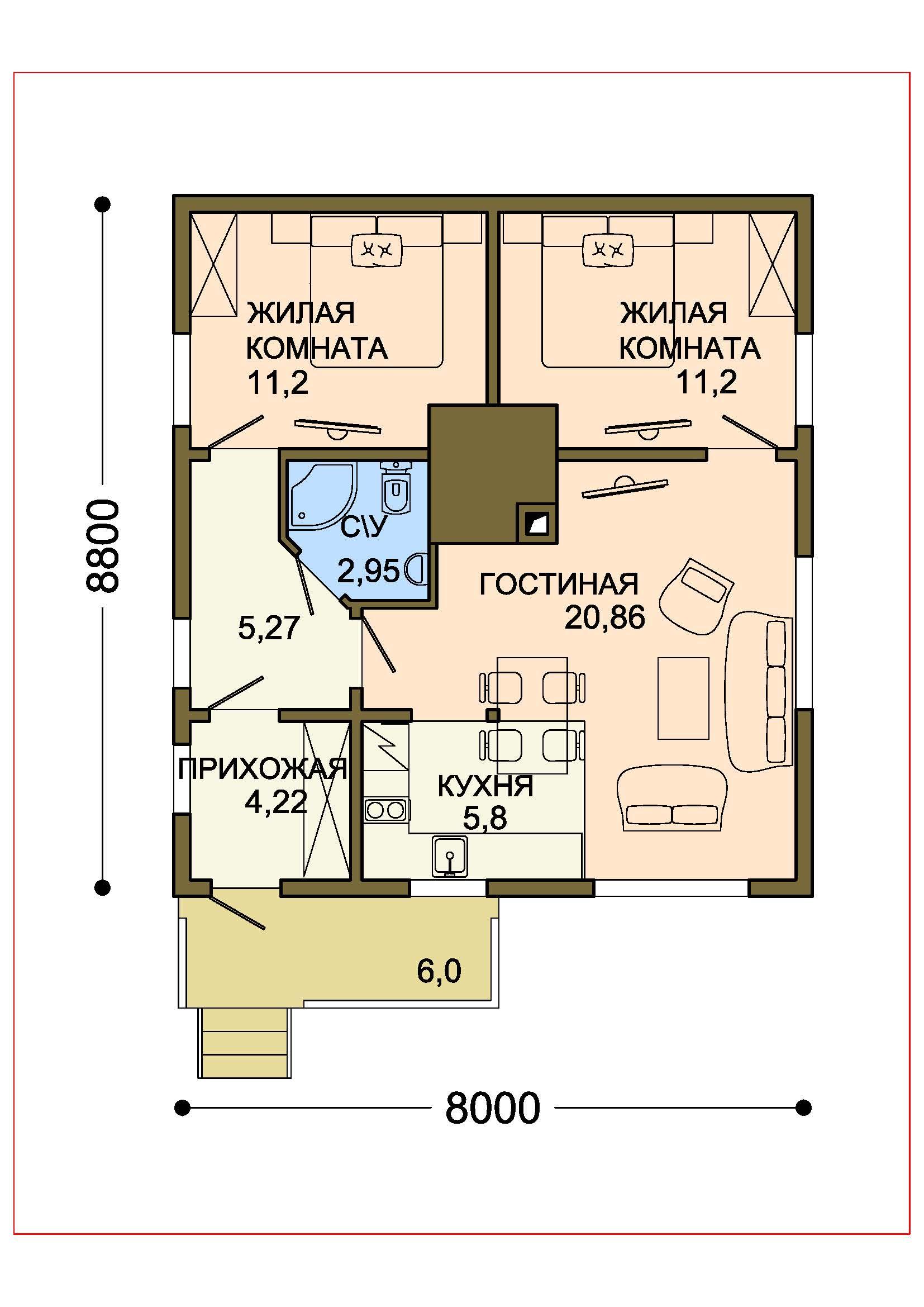 Проект дома 011 план