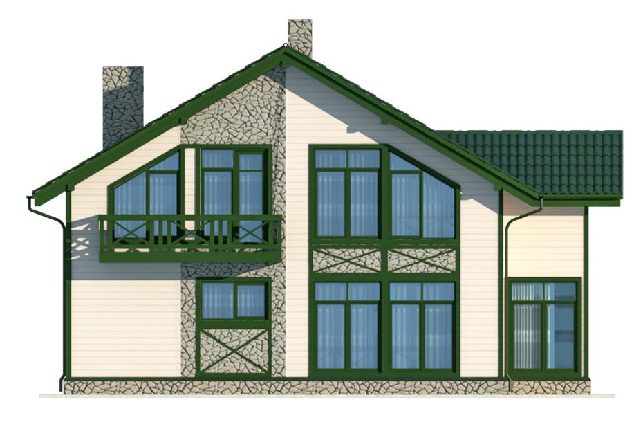 Проект дома 012-2 фасад