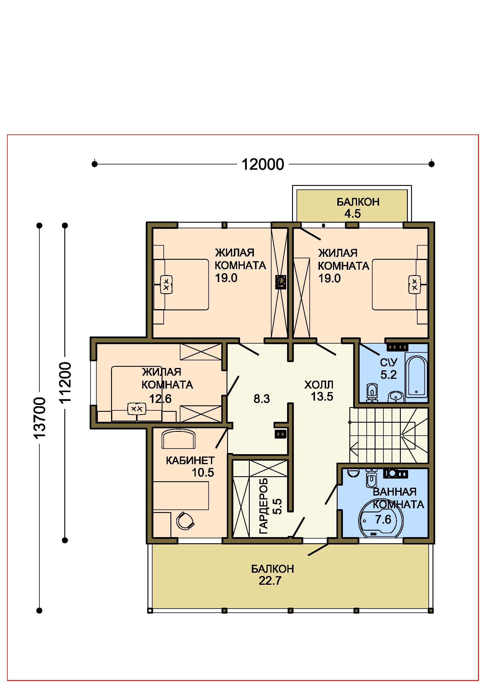 Проект дома 012-2 план