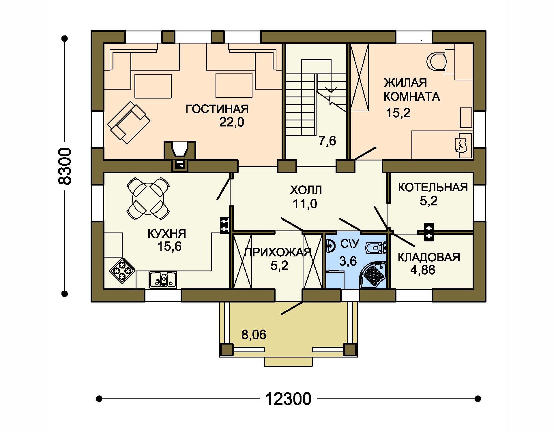 Проект дома ДГ-1 план