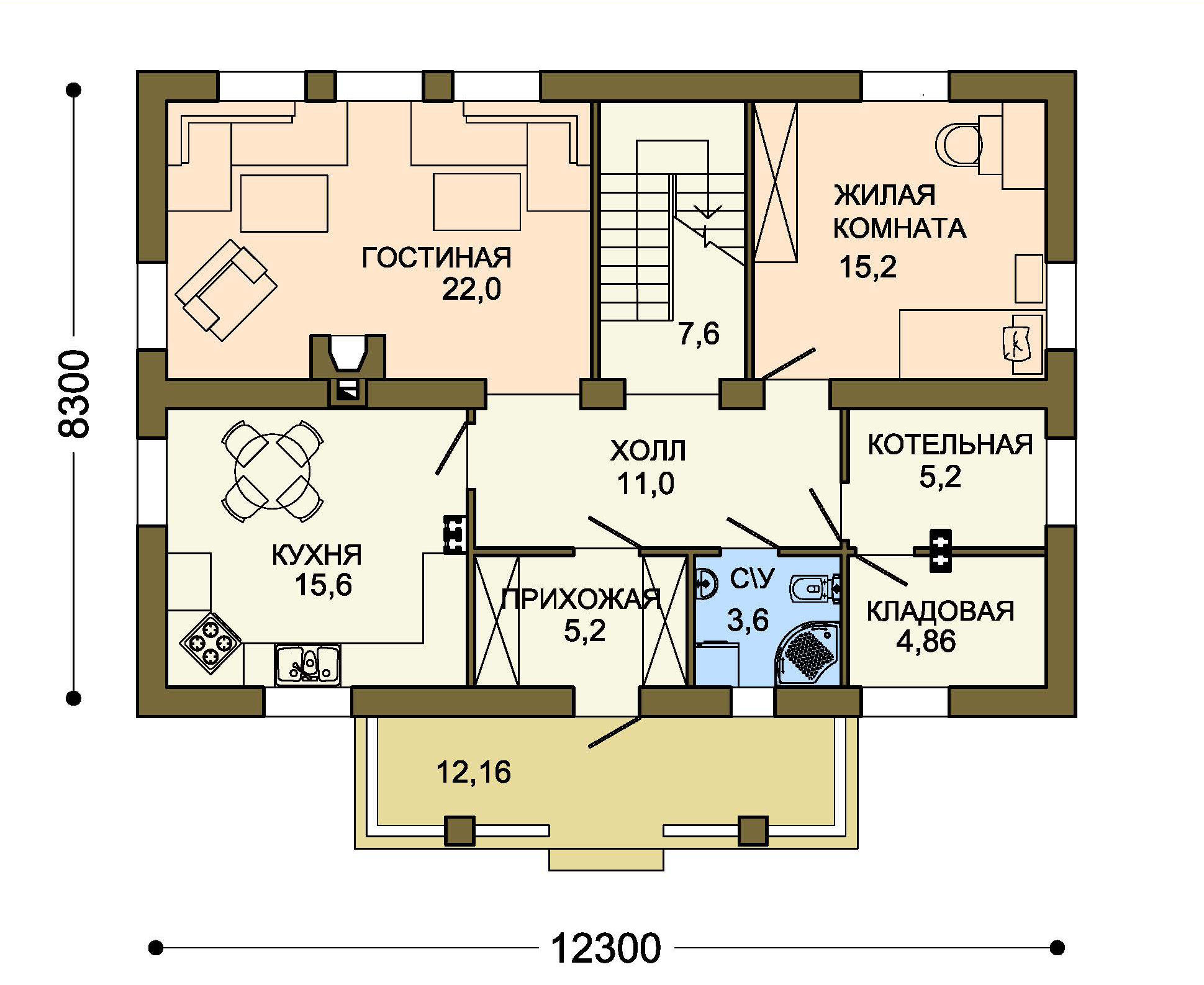 Проект дома ДГ-2 план