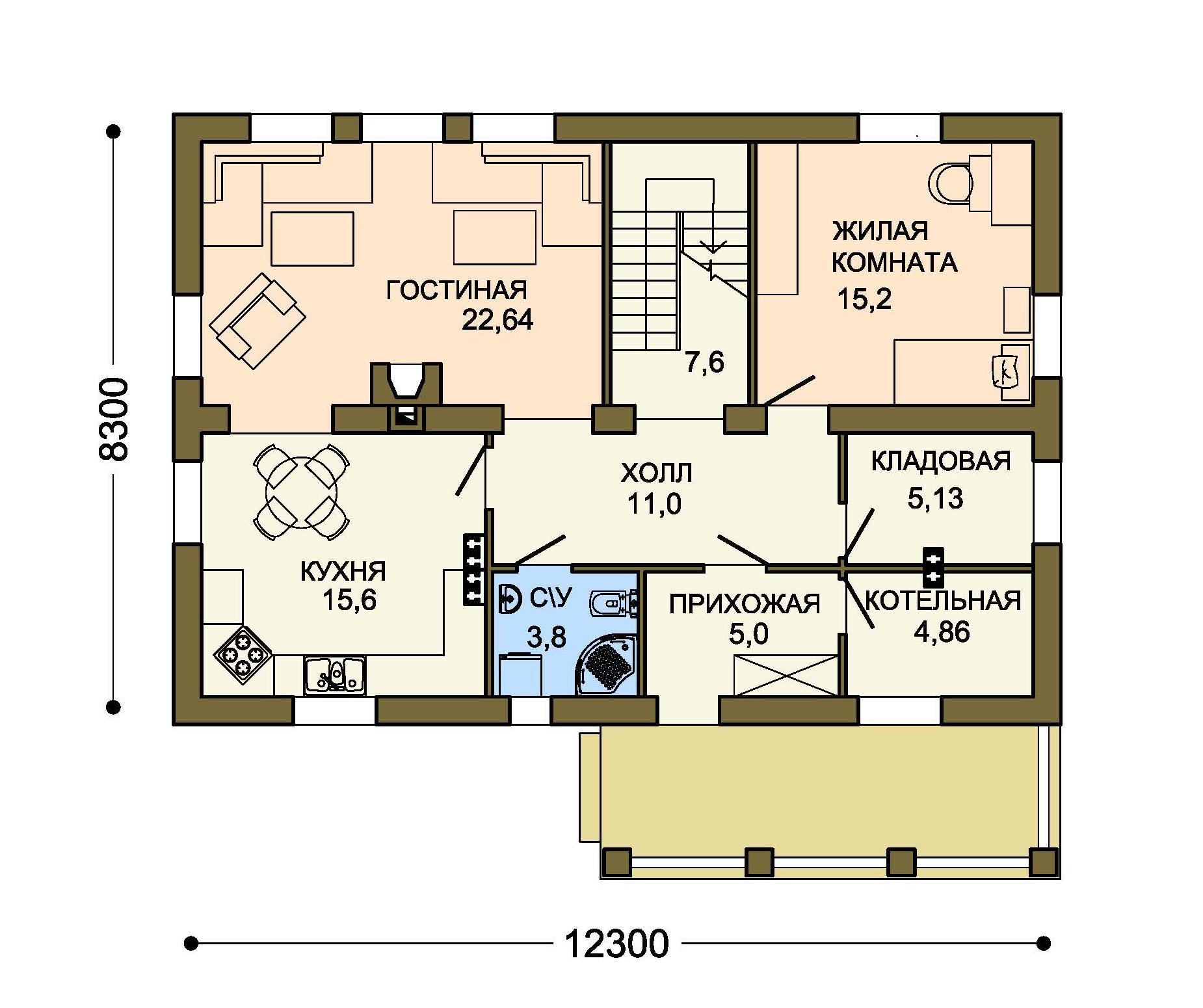 Проект дома ДГ-3 план