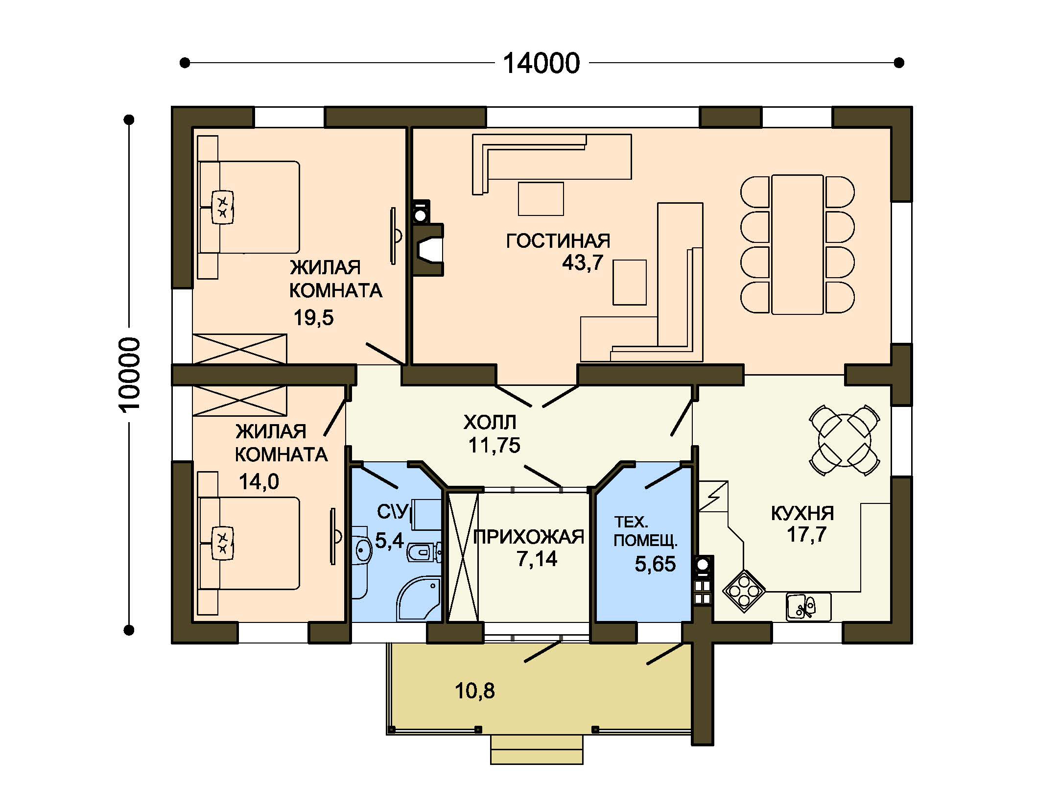 Проект дома ДГ-4 план