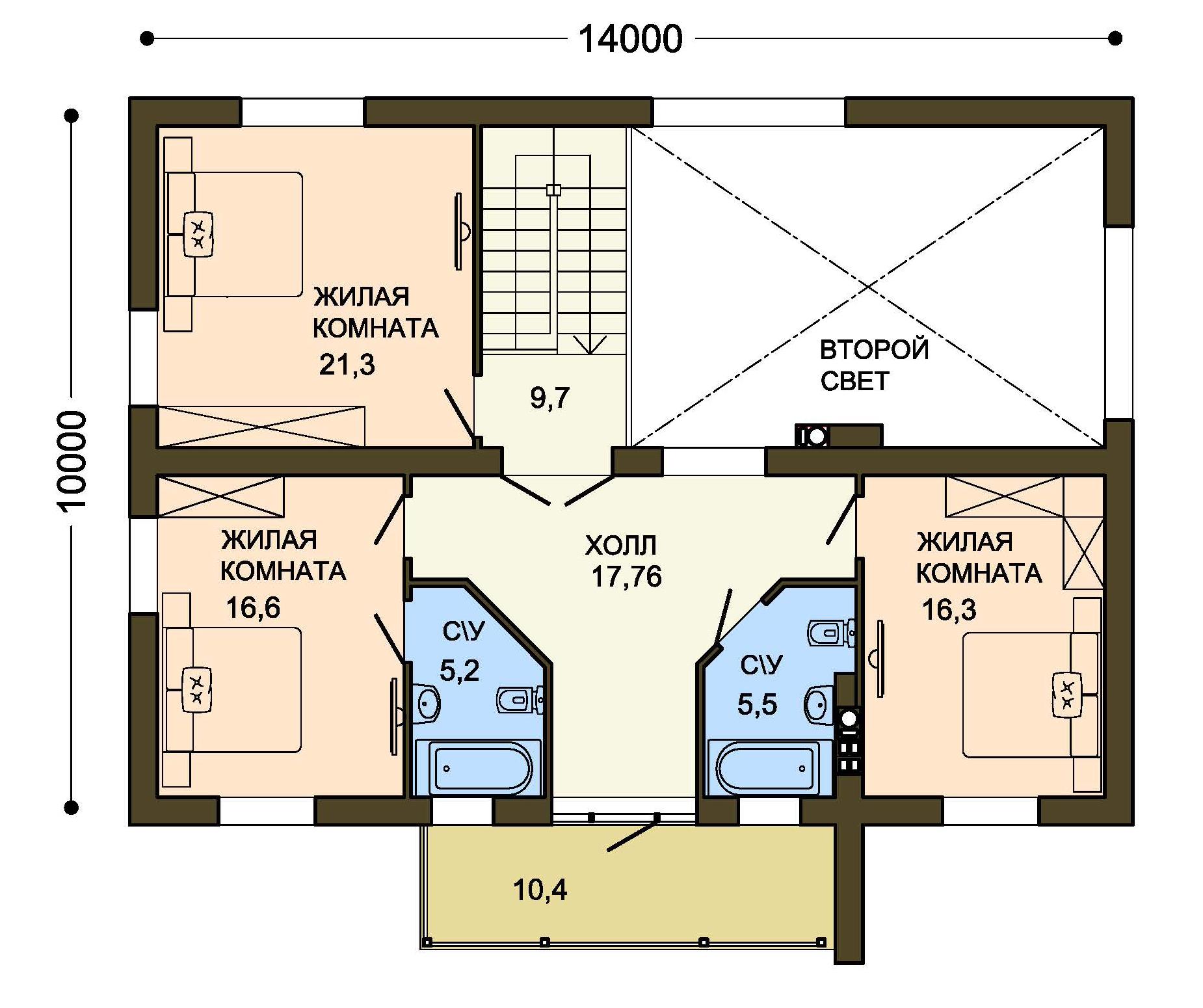Проект дома ДГ-4.2 план
