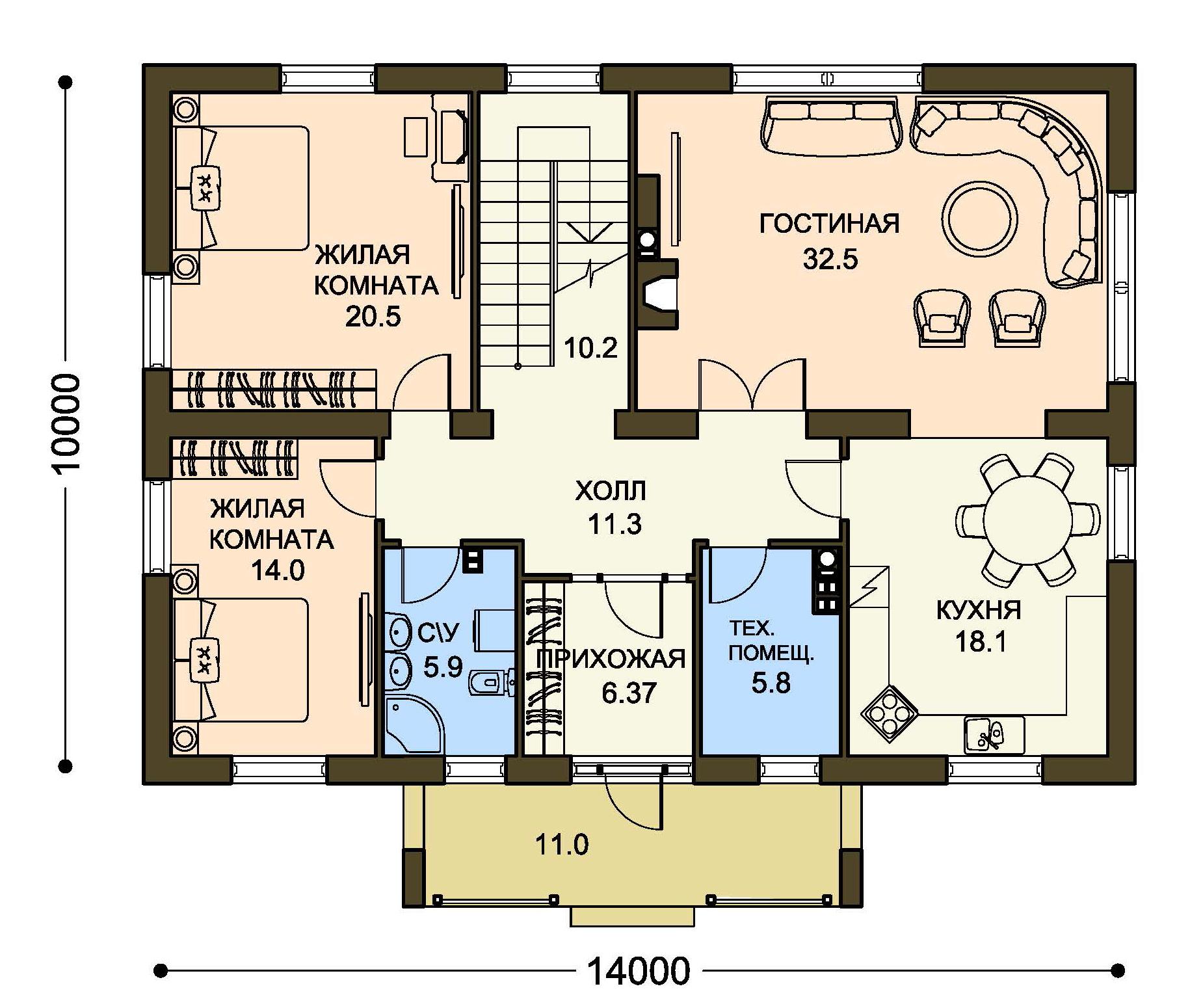 Проект дома ДГ-4.3 план
