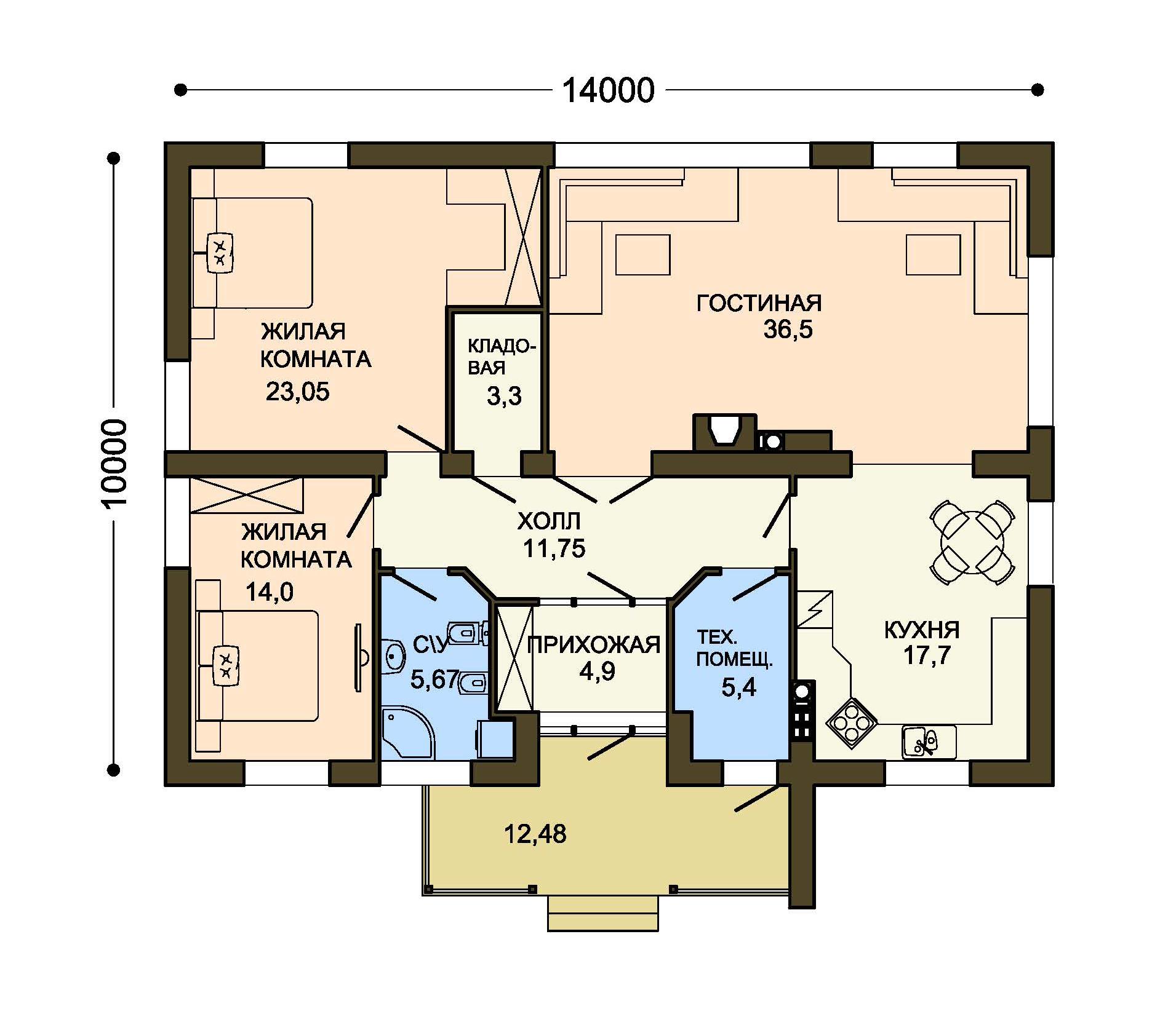 Проект дома ДГ-4а план