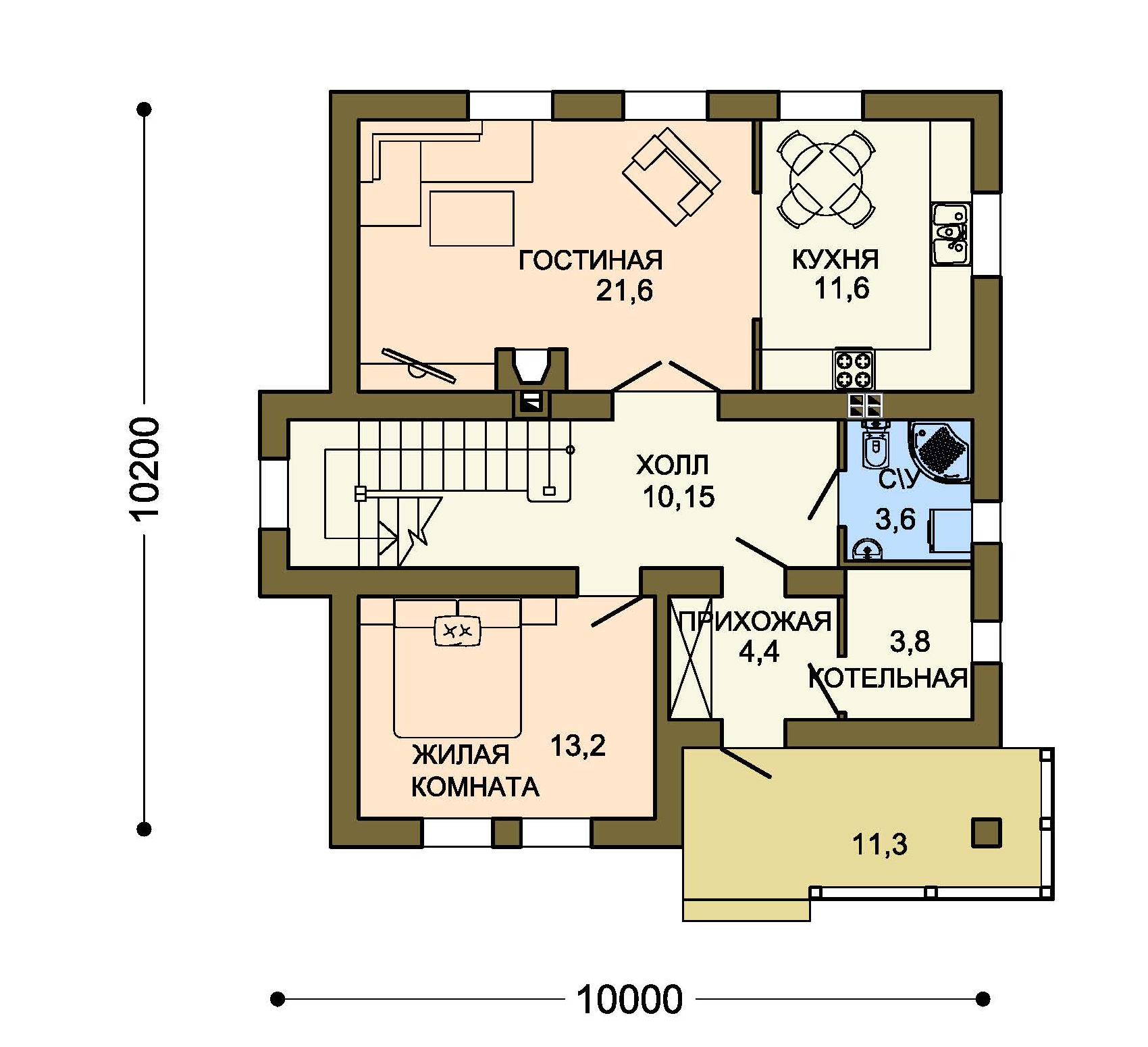 Проект дома ДГ-5 план
