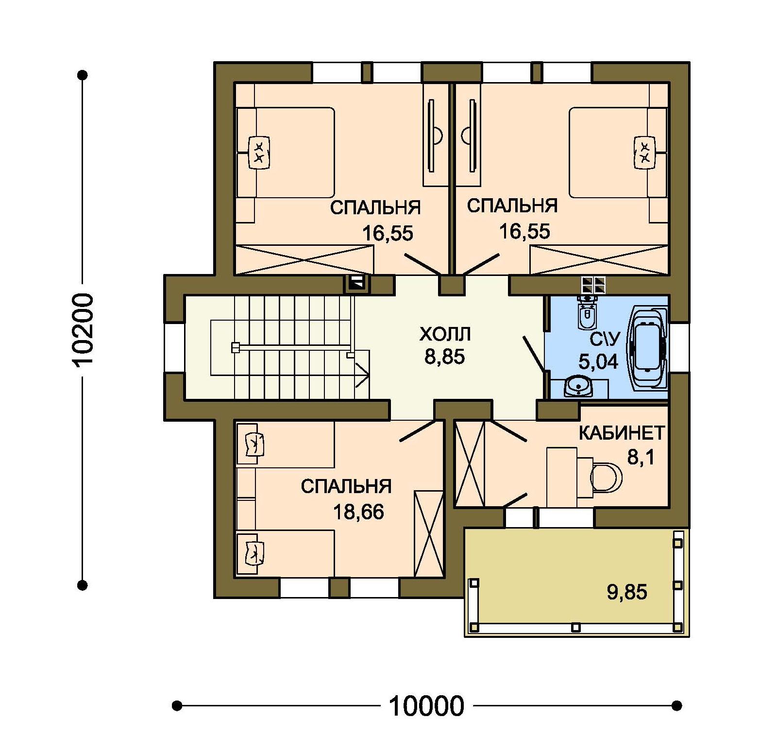 Проект дома ДГ-6 план