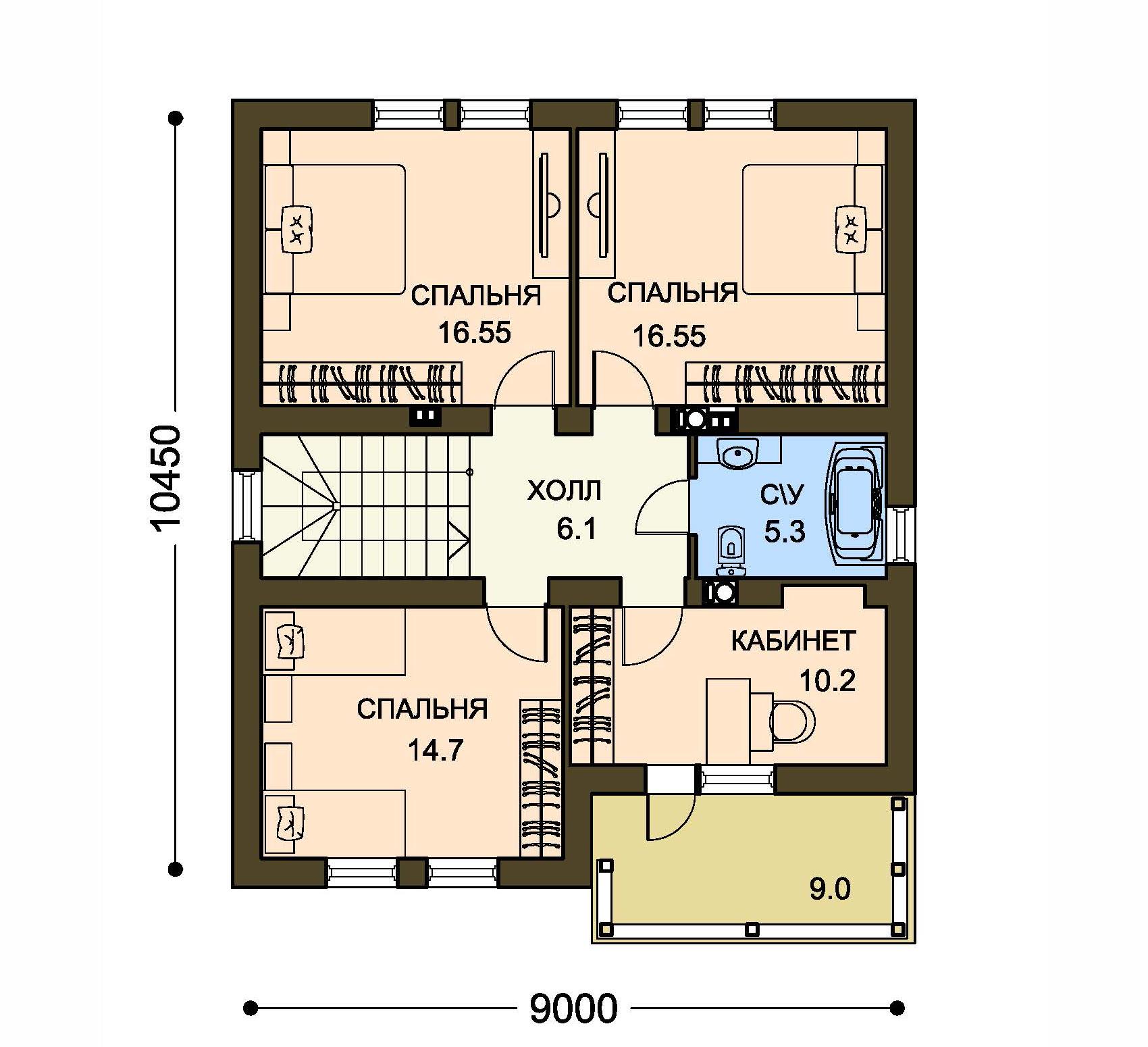 Проект дома ДГ-6.1 план