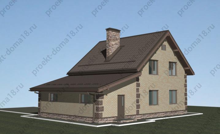 Проект дома с гаражом Л-02-23/а фасад