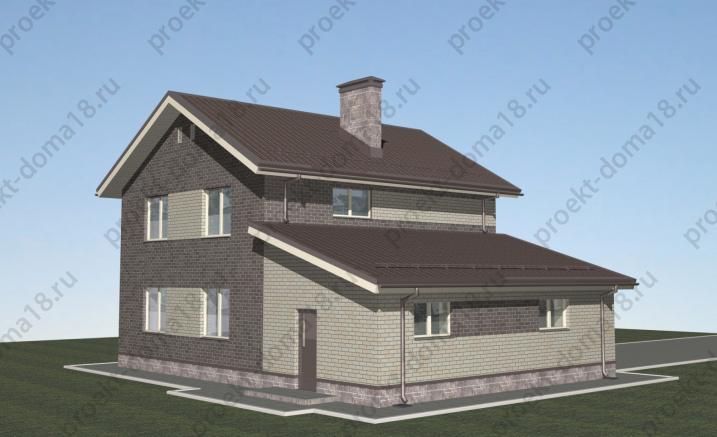 Проект дома с гаражом Л-02-22/а фасад