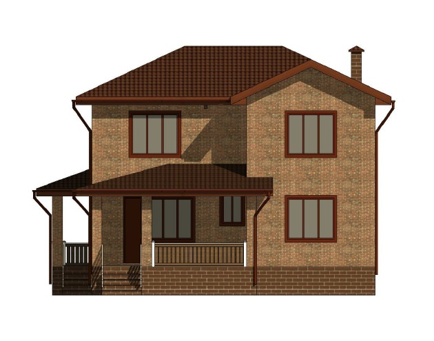 Проект двухэтажного дома 11х12м фасад