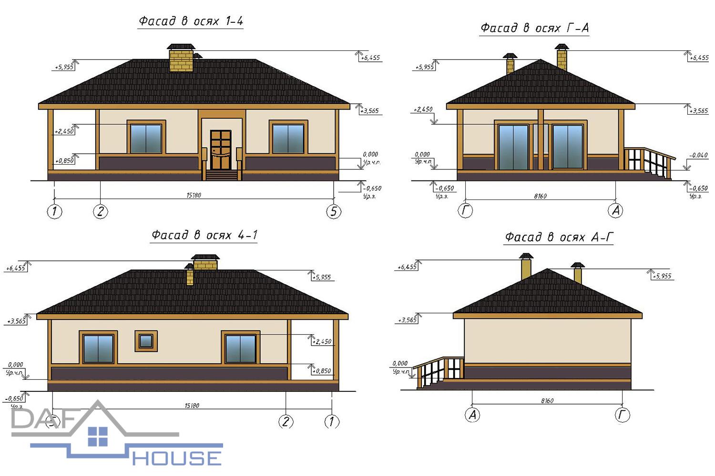 Проект A1073 фасад