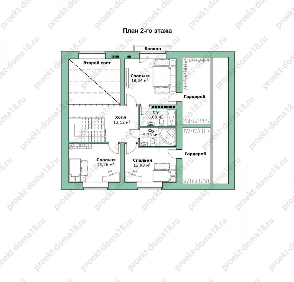 Проект дома в стиле ШАЛЕ площадью 200 кв.м план