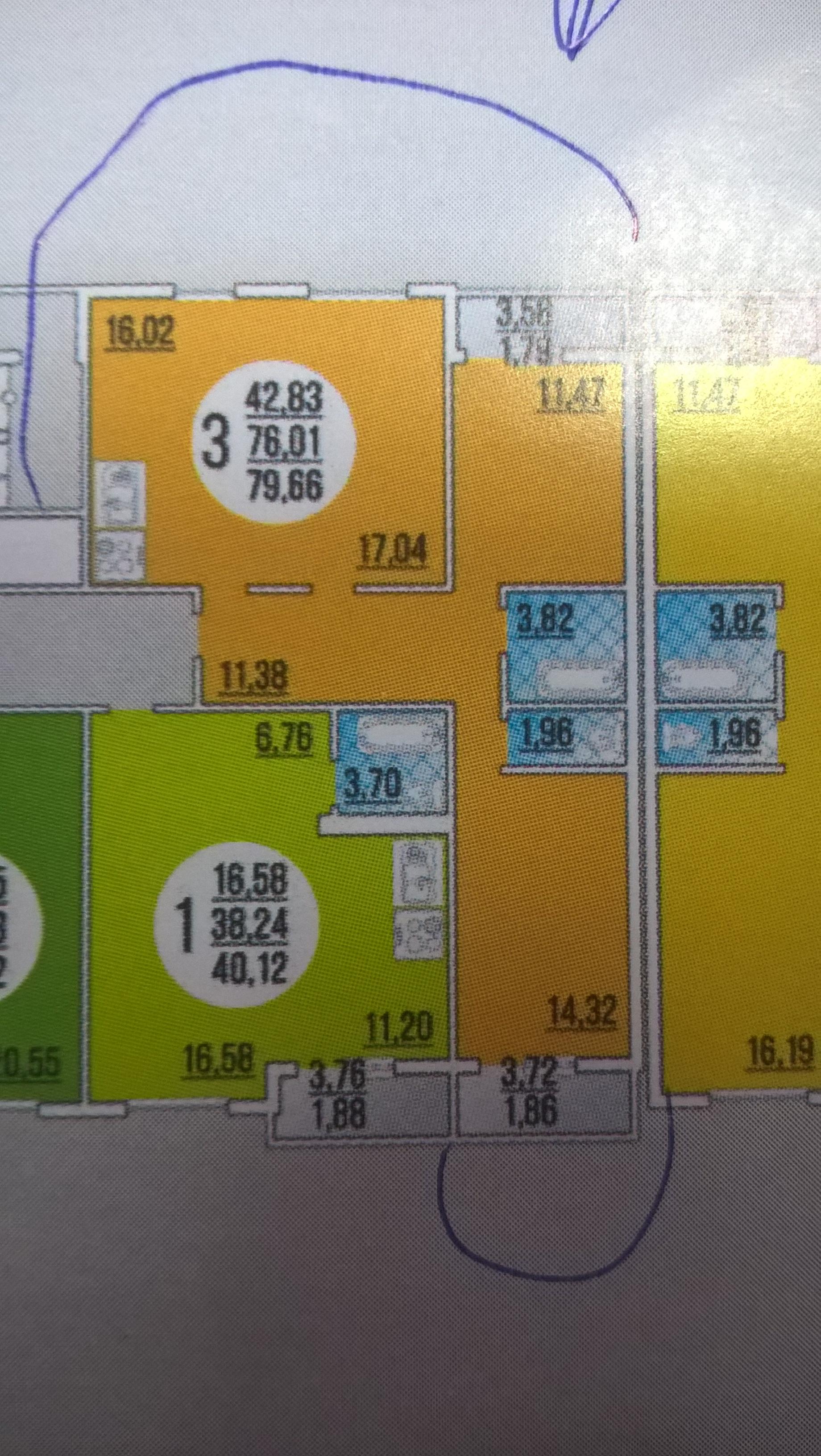 """ЖК """"Малая земля"""", 3-к квартира, 79.7 м², 20/20 эт."""