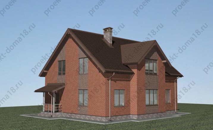 Проект дома из газобетона Н-09-15/а фасад