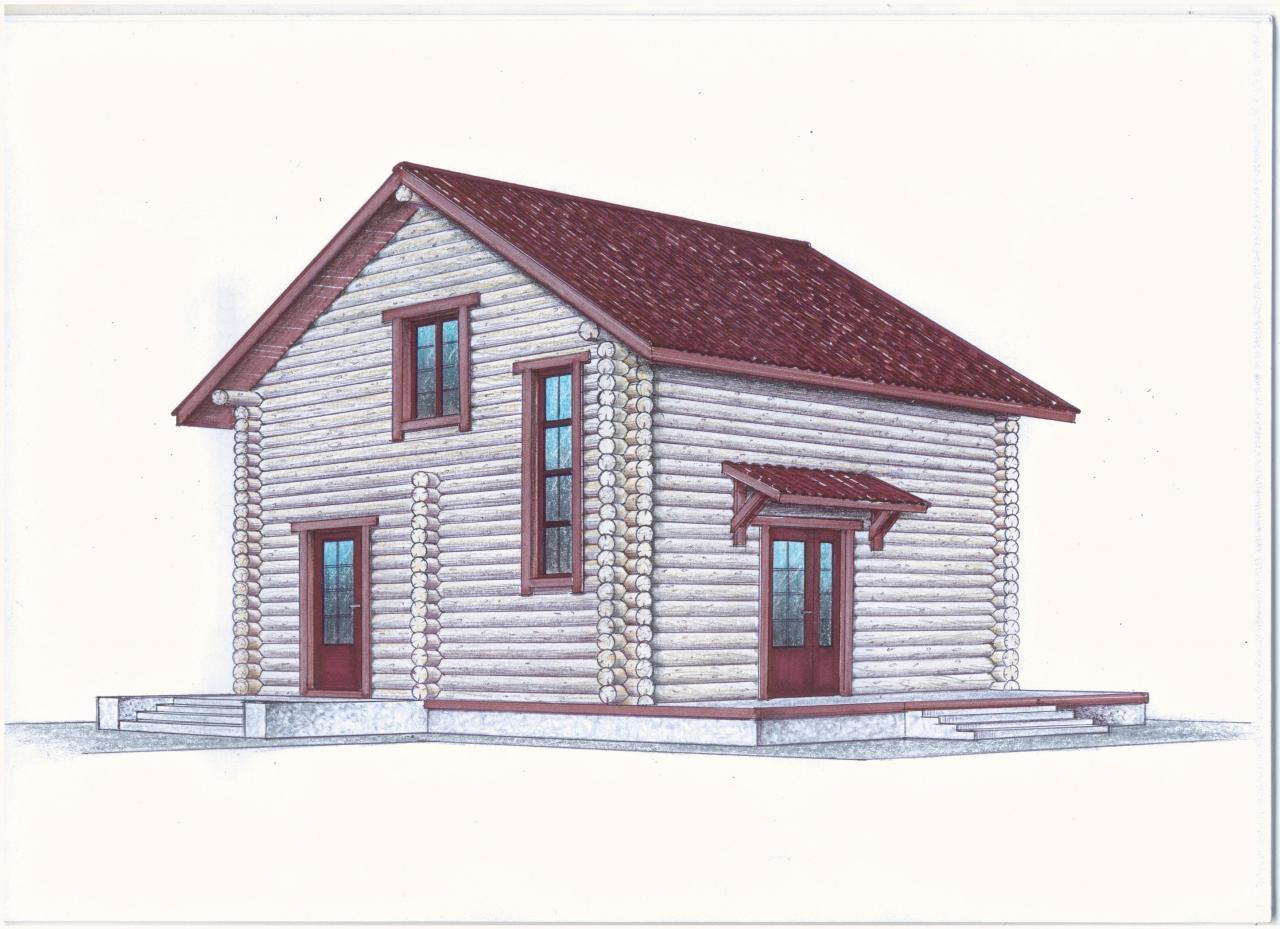 Проект гостевого дома фасад