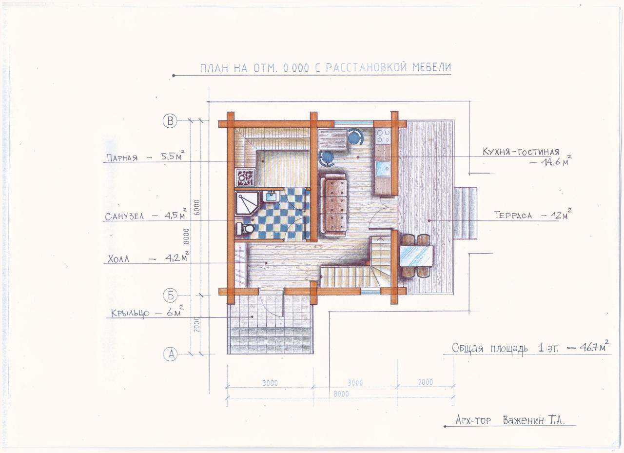 Проект гостевого дома план