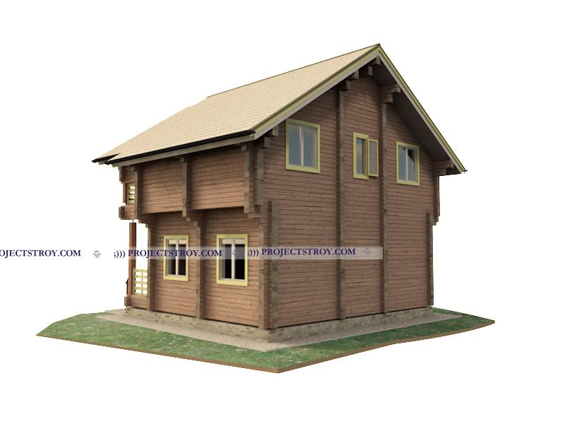 Дом из профилированного бруса до 100 кв. м фасад