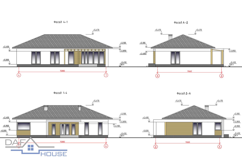 Проект А5543 фасад