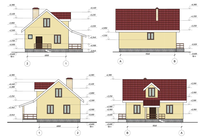 Проект В5033 фасад