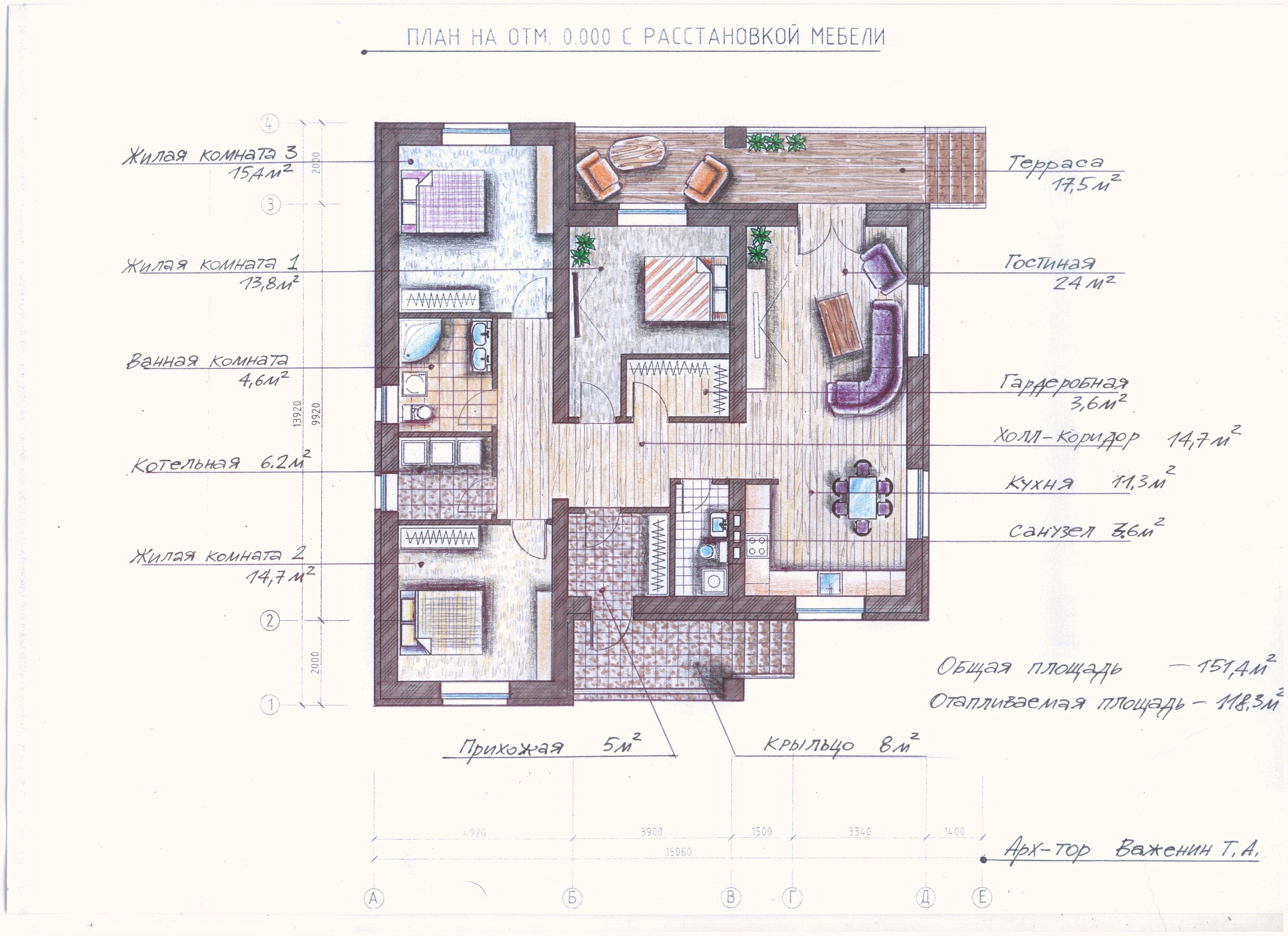 """Иж-326"" Проект одноэтажного дома план"