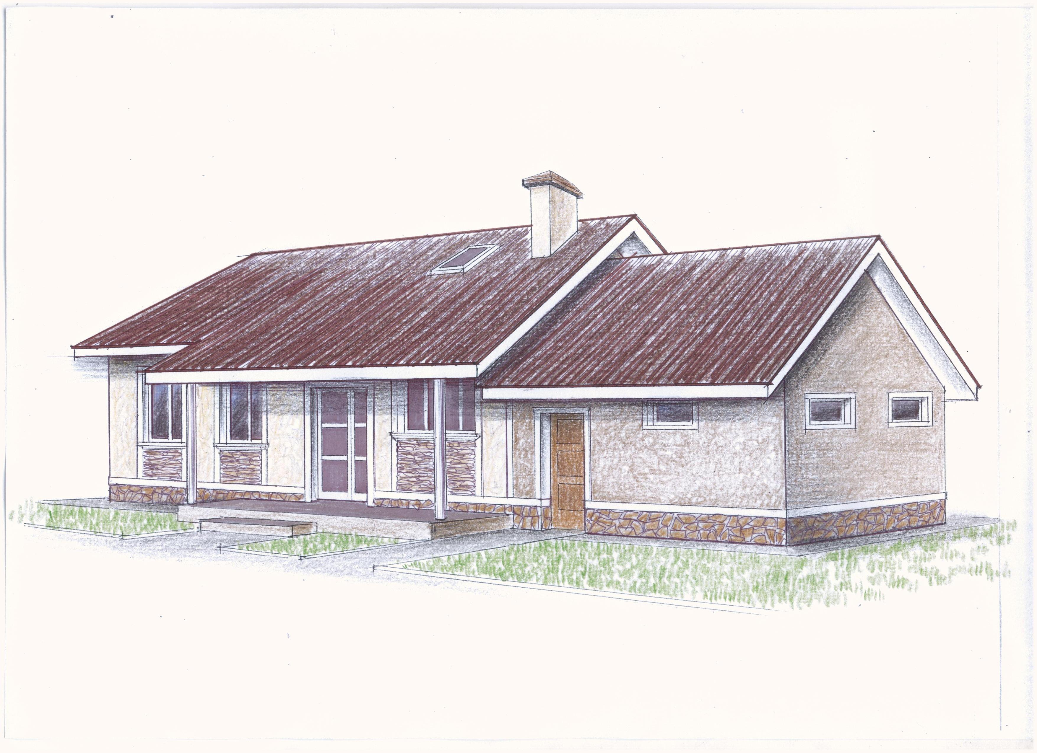 "Проект ""Иж-325"" Проект одноэтажного дома фасад"