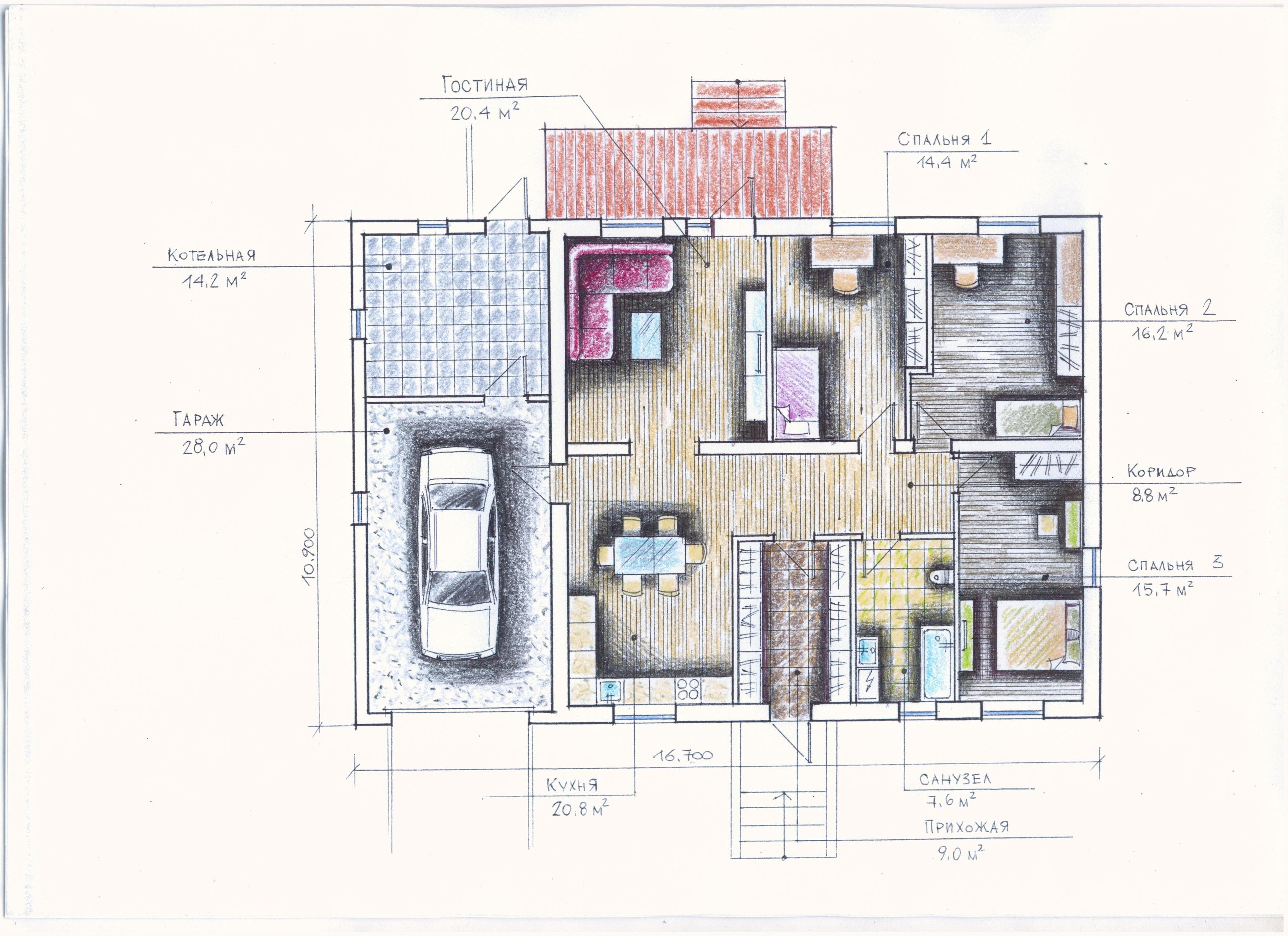 "Проект ""Иж-325"" Проект одноэтажного дома план"