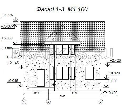 Каркас дома КД-08 план