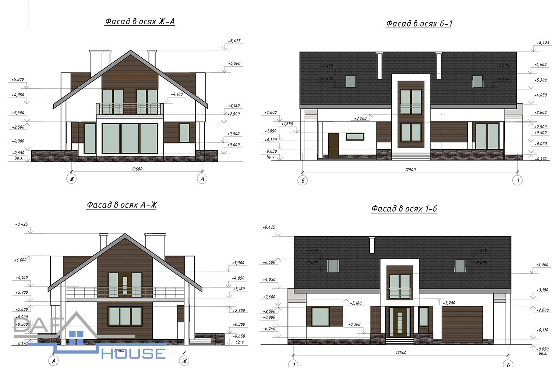 Проект В5416 фасад