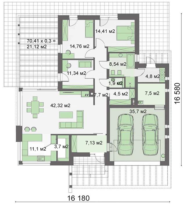 Проект дома 4m704 план