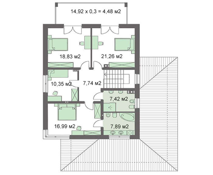 Проект дома 4m756 план