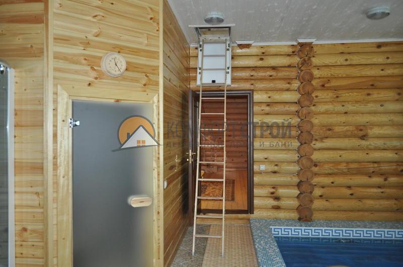 Дом-баня с бассейном  фасад