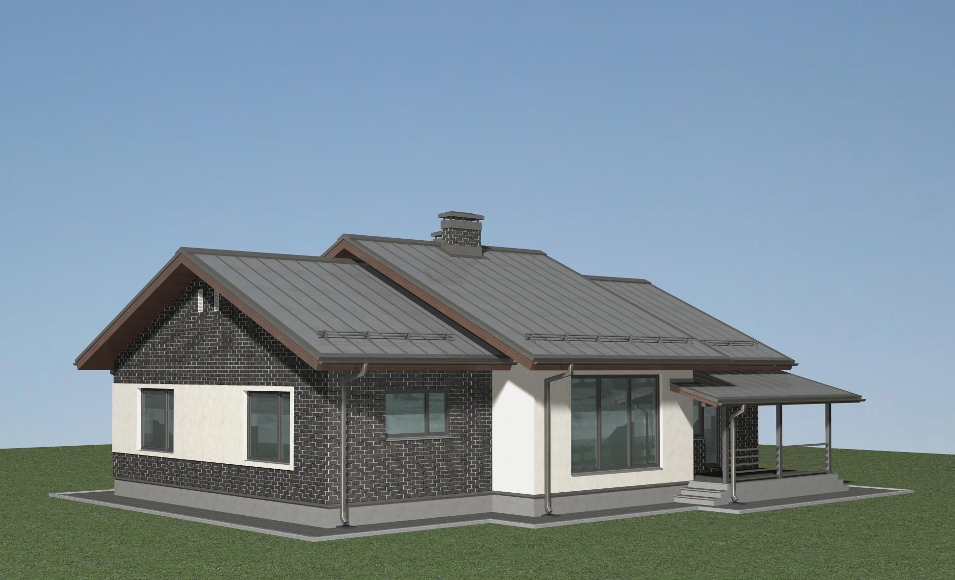 Проект одноэтажного дома А-07-19 фасад