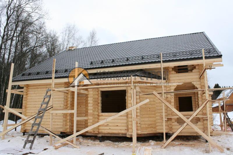 Дом 160.28 м2 10х11.6 по проекту КРАСНОАРМЕЙСК  фасад