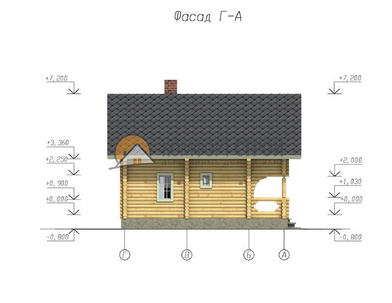 Дом 130.6 м2 8х9.5 по проекту БЕРЕНДЕЕВО фасад